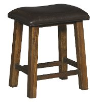 6268-821 Rustic Brown Stool with Padded Seat - New Castle