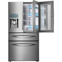 RF22KREDBSR Samsung 36 Inch 4-Door Refrigerator Counter-Depth - Stainless Steel
