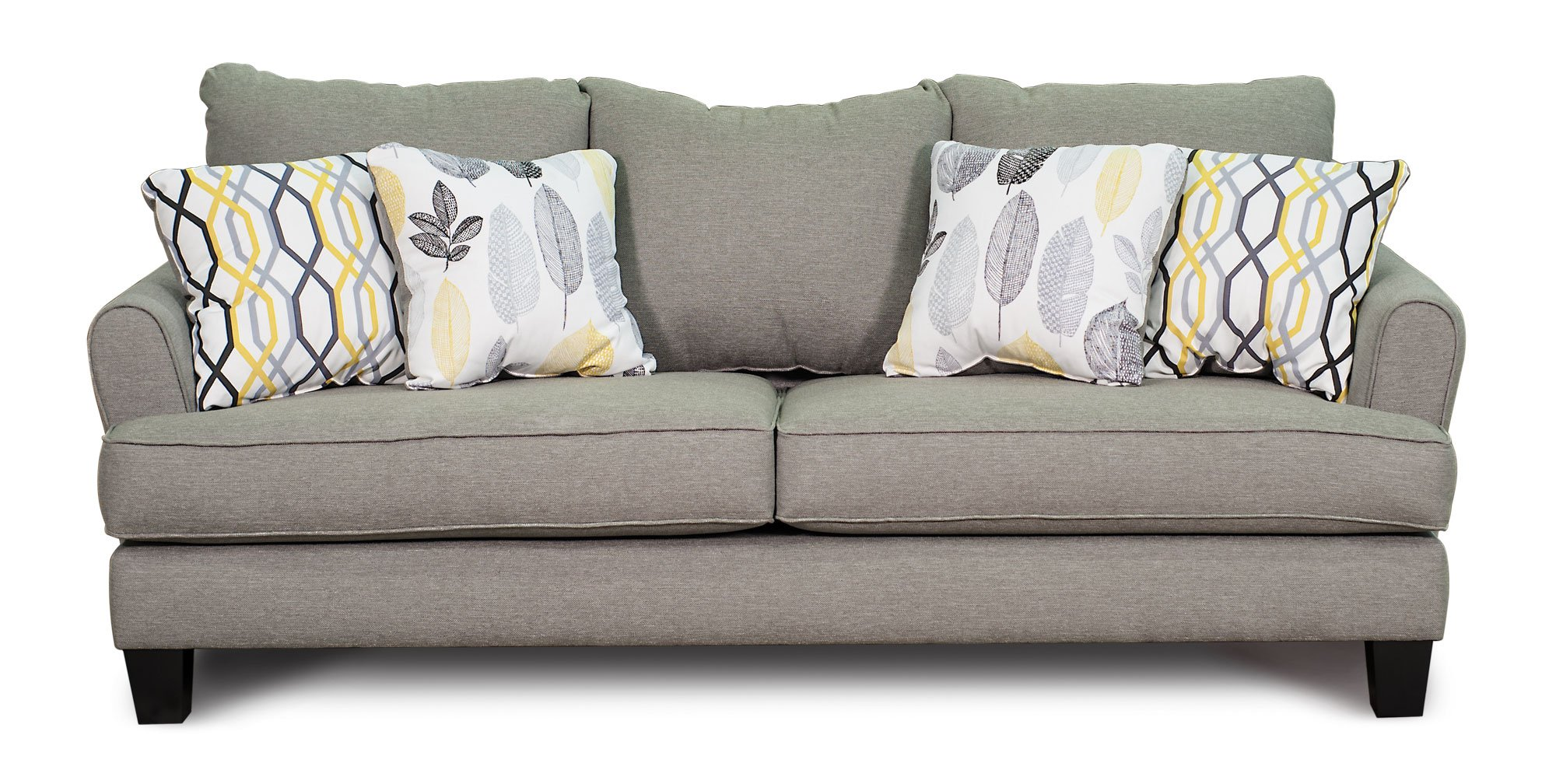 Stone Gray Upholstered Casual Contemporary 7 Piece Room