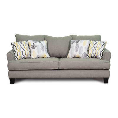 Casual Contemporary Stone Gray Sofa   Bryn. Couches  couches for sale   sofas   RC Willey Furniture Store