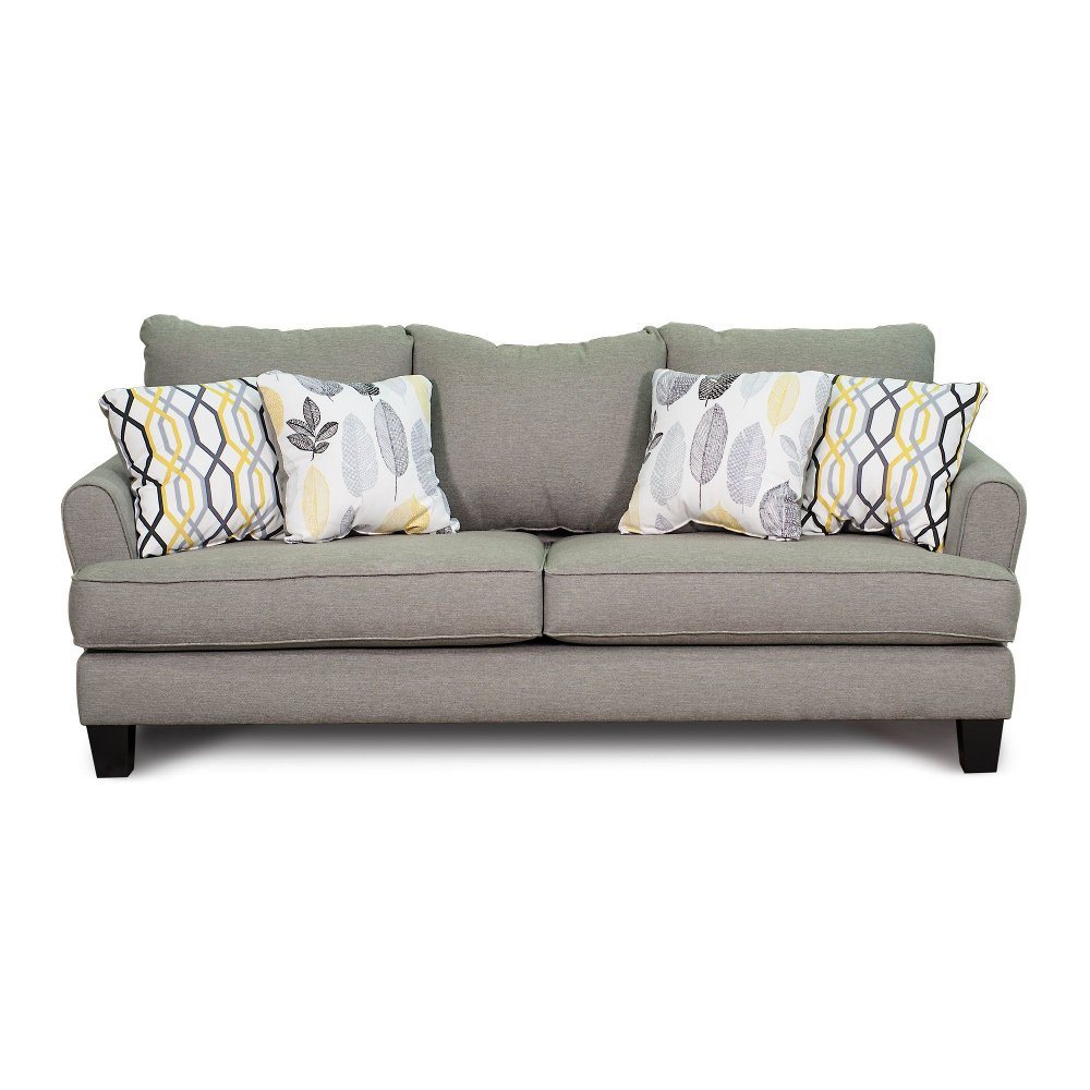 Casual Contemporary Stone Gray Sofa - Bryn | RC Willey Furniture Store
