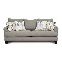 Stone Grey Upholstered Casual Contemporary Sofa - Bryn