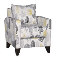 Contemporary Stone Gray Leaf Accent Chair - Bryn