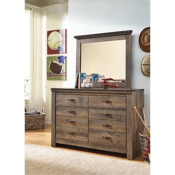 Contemporary Rustic Oak Youth Dresser Trinell