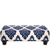 546DMNBL Diamond Blue Rectangle Ottoman