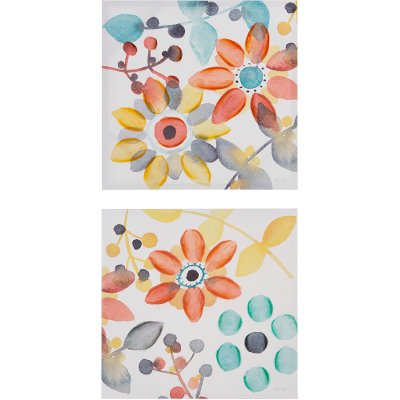 Floral Canvas Wall Art 2 piece 'sweet floral' canvas wall art | rc willey furniture store