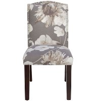 64-6NB-PWADGDRF Adagio Driftwood Nail Button Arched Back Dining Chair