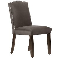 64-6NB-SVMSTCSM Mystere Cosmic Nail Button Arched Back Dining Chair