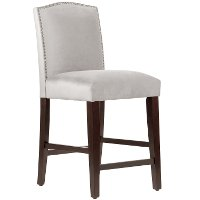64-7NB-PWMSTDV Mystere Dove Nail Button Arched Back - Counter Stool