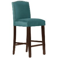 64-8NB-PWMSTPCC Mystere Peacock Nail Button Back - Bar Stool