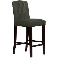 69-7VLVPWT Velvet Pewter Tufted Arched Back - Counter Stool