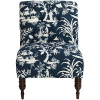 6405CRSLKMDN Crystal Lake Midnight Traditional Tufted Chair