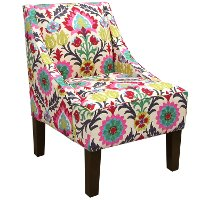 72-1SNTMRDSRFLW Desert Flower Swoop Arm Chair