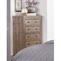 Gray Solid Pine Chest