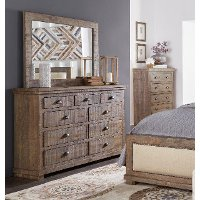 Gray Solid Pine Dresser - Willow Collection