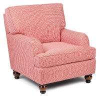 1676/KEELEY-RED Red Accent Chair - Keeley