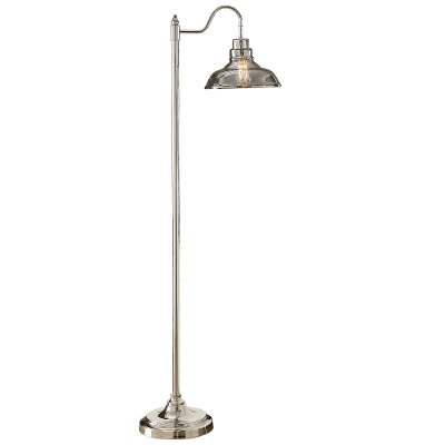 Nickel floor lamp with smoke glass shade rc willey furniture store nickel floor lamp with smoke glass shade aloadofball Images