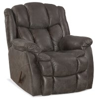 Gray Microfiber Rocker Recliner - Renegade