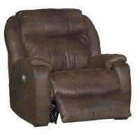 Mocha Brown Power Recliner - Hercules