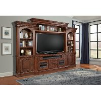 Umber Brown 4 Piece Traditional Entertainment Center - Franklin