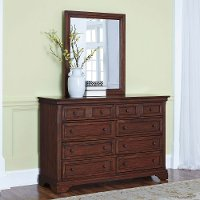 Cherry 8-Drawer Dresser & Mirror - Chesapeake