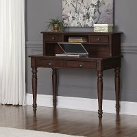 Bourbon 1-Drawer Student Desk & Hutch - Country Comfort