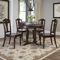 Bourbon 5 Piece Round Dining Set - Country Comfort
