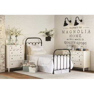 Magnolia Home Furniture Blackened Bronze Twin Metal Bed. RC Willey sells metal beds in twin  full  queen   king