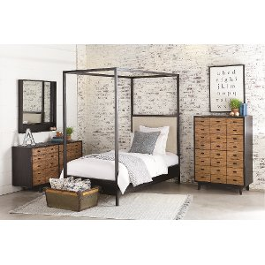 clearance magnolia home furniture ivory u0026 metal twin canopy bed