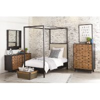 Magnolia Home Furniture Ivory & Metal Twin Canopy Bed