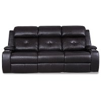 Mocha Dark Brown Power Reclining Sofa - Diego