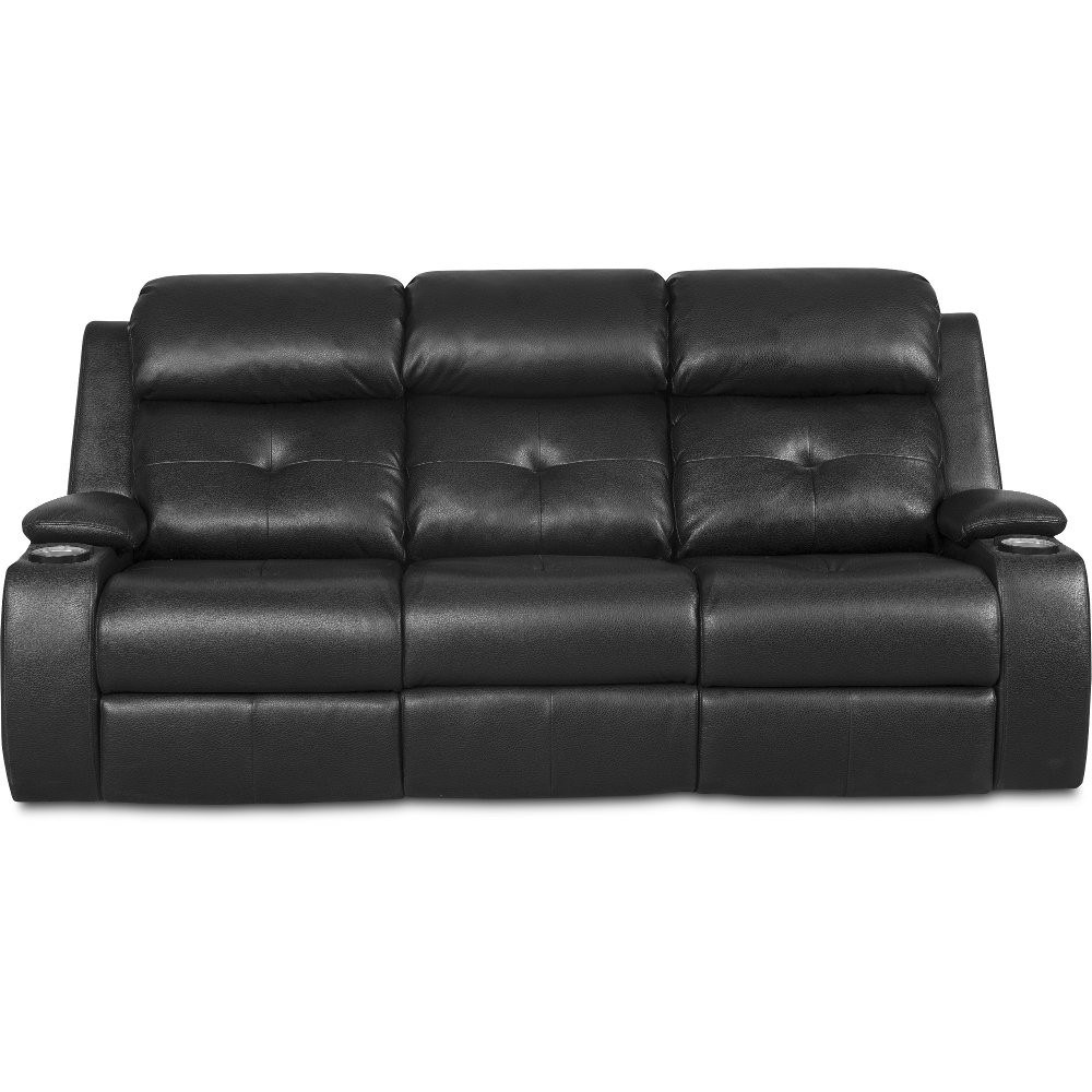 Black Fabric Reclining Sofa Furniture Grey Fabric Sectional Sofa With Recliner And Console Thesofa