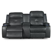 Ebony Power Reclining Loveseat - Diego