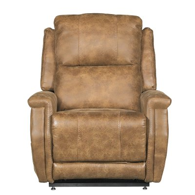 saddle brown 3 motor lift chair devin - Brown Leather Club Chair