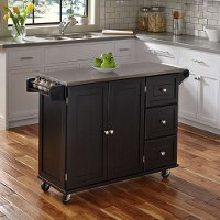 Black Stainless Top Kitchen Cart - Liberty