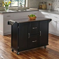 Black Stainless Top Kitchen Cart - Patriot