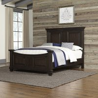 Prairie Home Black Oak Queen Bed Rc Willey Furniture Store