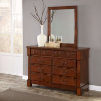 Cherry Dresser And Mirror - The Aspen