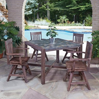 Mosaic 5 Piece Square Table Dining Set Morocco Rc Willey