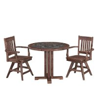 Round Slate Mosaic Top Dining Table Morocco 3