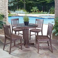Mosaic 5 Piece Round Table Dining Set - Morocco