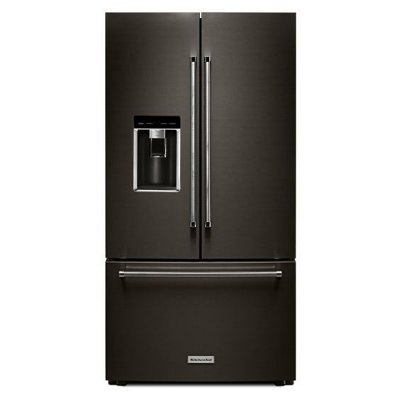 KRFC704FBS KitchenAid Counter Depth French Door Refrigerator - 23.8 cu. ft., 36 Inch Black Stainless Steel