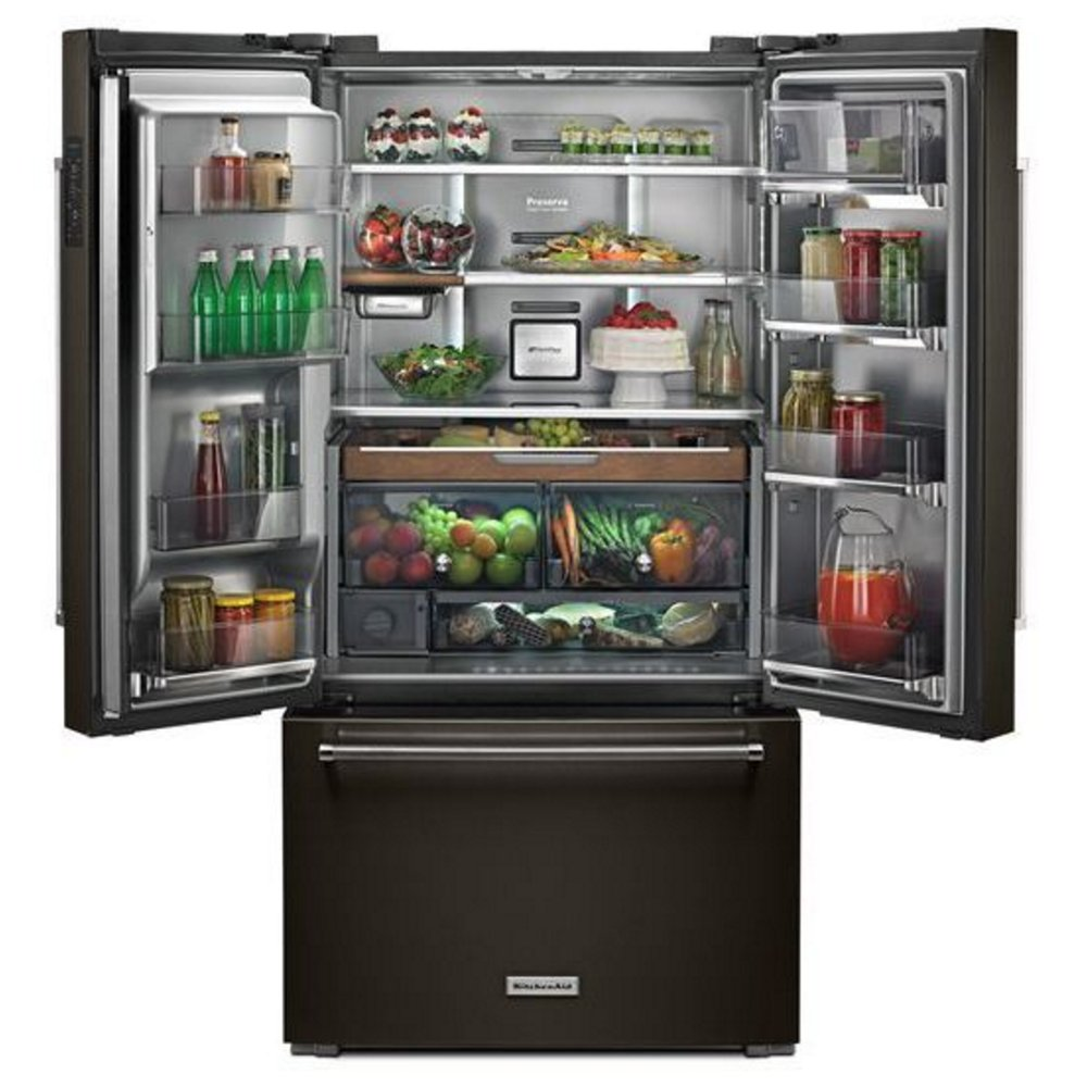 Kitchenaid French Door Refrigerator Black Stainless Steel Rc