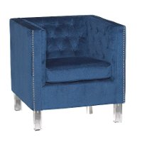 Ink Blue Modern Accent Chair - Bella