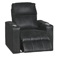 Eclipse Black Home Theater Power Recliner - Headliner