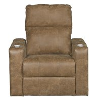 Saddle Brown Home Theater Power Recliner - Headliner
