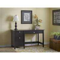 Espresso Oak Single Pedestal Desk - Broadview