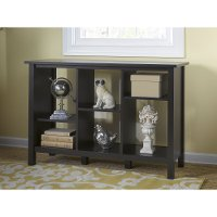 Espresso Oak 6 Cube Bookcase - Broadview