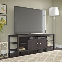 Espresso Brown Oak Modern 75 Inch TV Stand - Broadview
