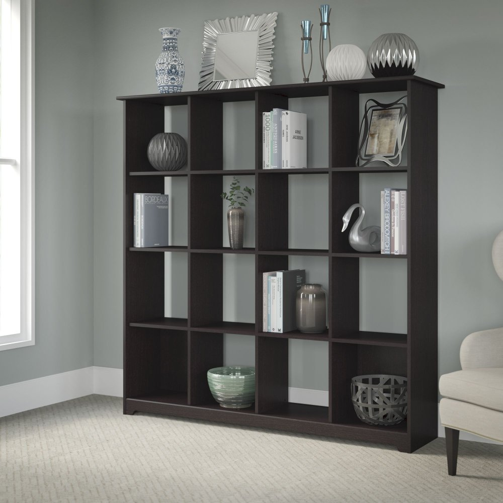 espresso wide bookcase oscar product low shelving units bookcases en